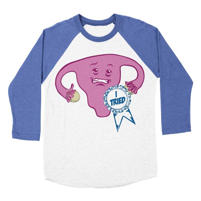 Uterus participation award Women's Baseball Triblend T-Shirt by Cory Kerr's Artist Shop (see more at corykerr.com)