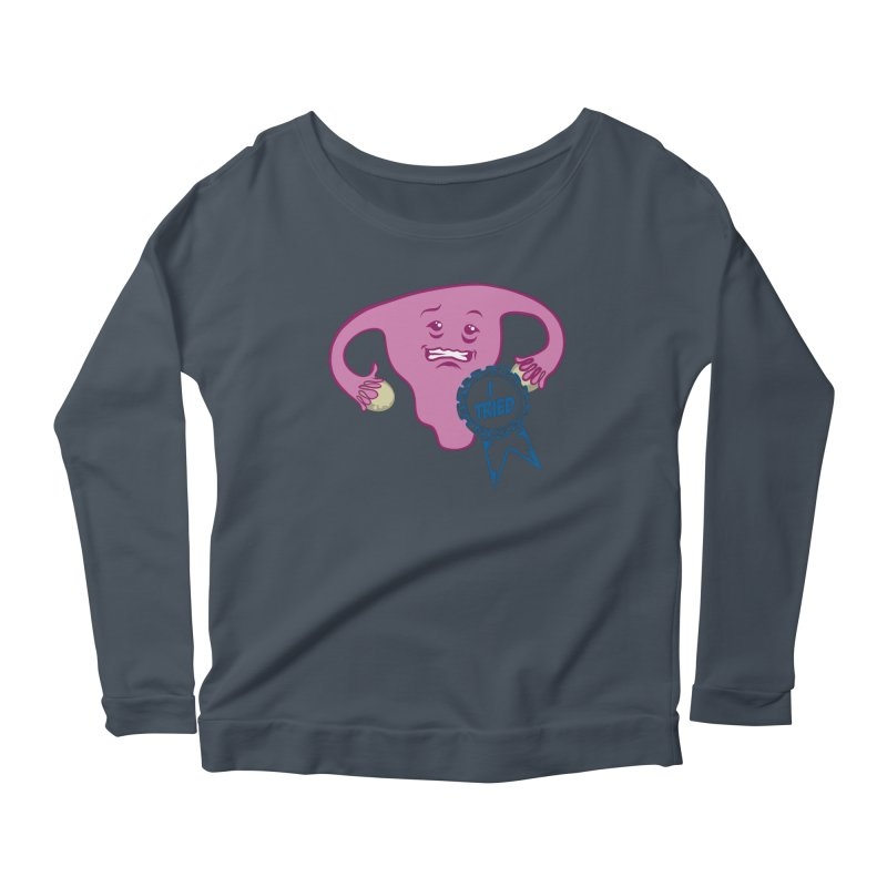 Uterus participation award Women's Longsleeve Scoopneck  by Cory Kerr's Artist Shop (see more at corykerr.com)