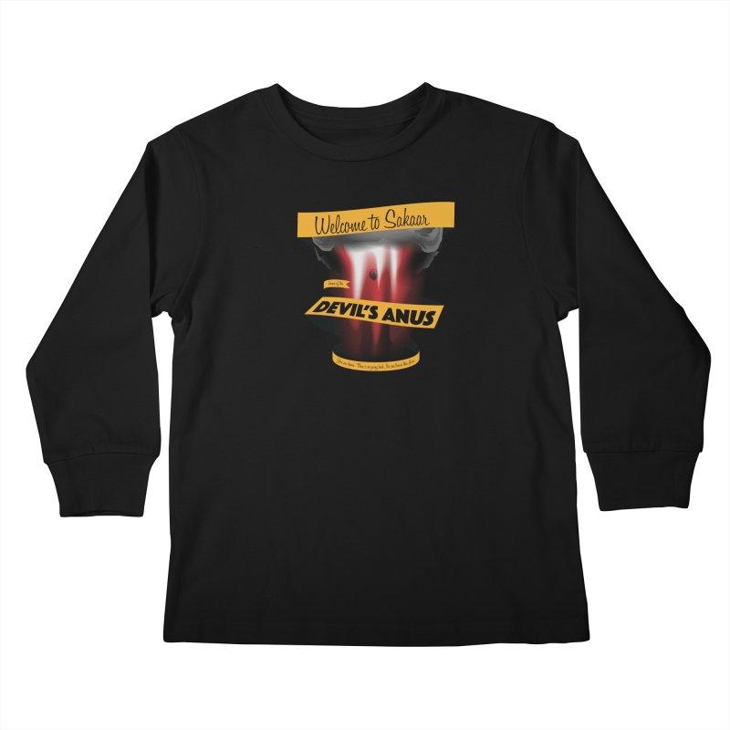 The Devil's Anus Kids Longsleeve T-Shirt by Cory Kerr's Artist Shop (see more at corykerr.com)