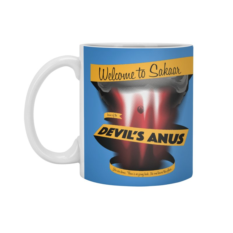 The Devil's Anus Accessories Mug by Cory Kerr's Artist Shop (see more at corykerr.com)