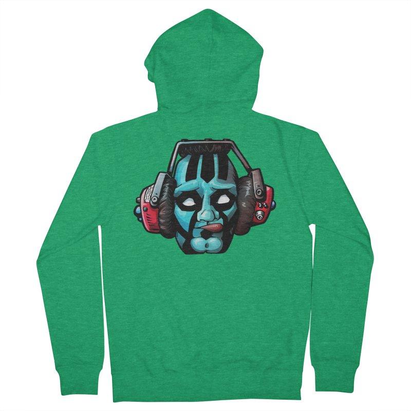 Zombie Metalhead  Men's Zip-Up Hoody by Cory Kerr's Artist Shop (see more at corykerr.com)