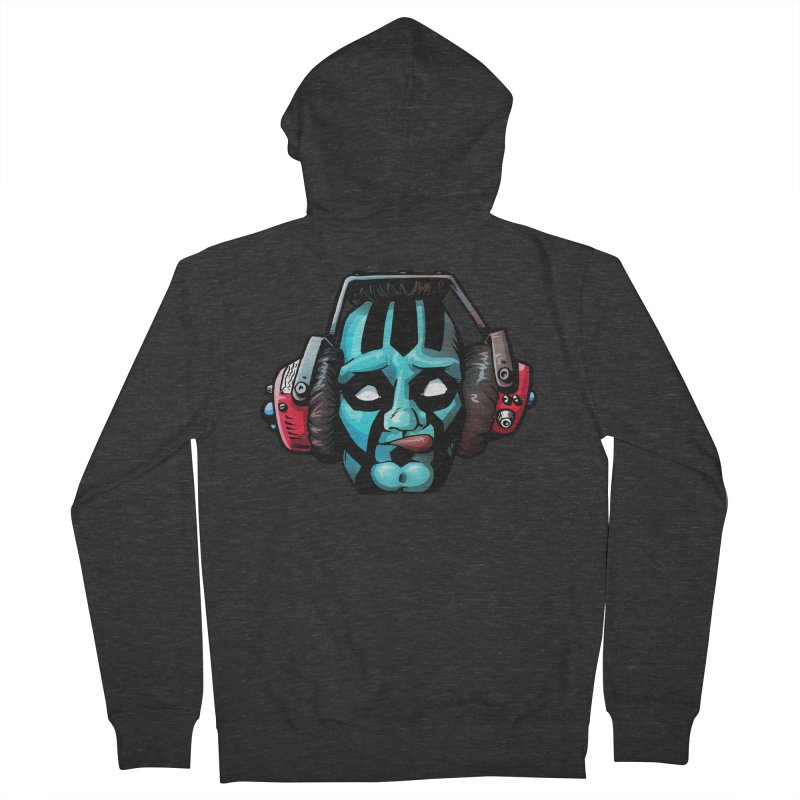 Zombie Metalhead  Men's Zip-Up Hoody by Cory Kerr's Artist Shop (see more at corykerr.com)