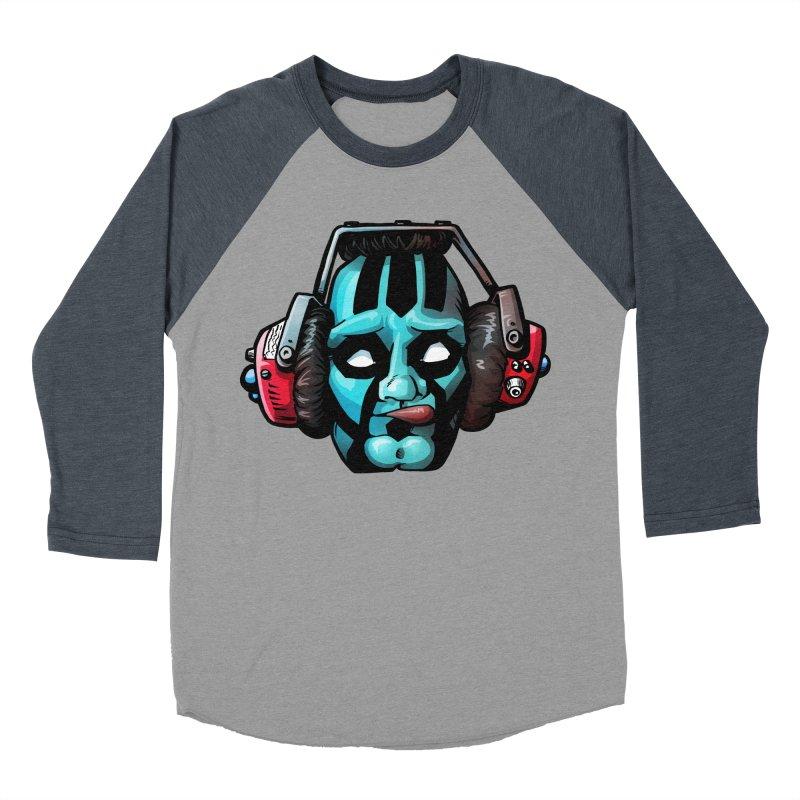Zombie Metalhead  Men's Baseball Triblend T-Shirt by Cory Kerr's Artist Shop (see more at corykerr.com)