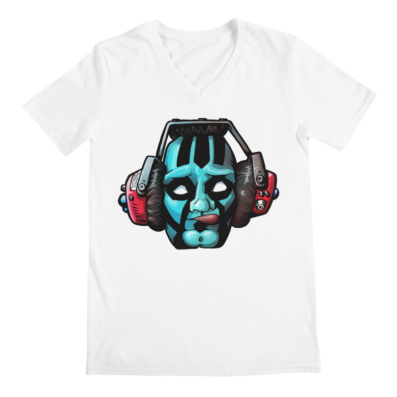 Zombie Metalhead  Men's V-Neck by Cory Kerr's Artist Shop (see more at corykerr.com)