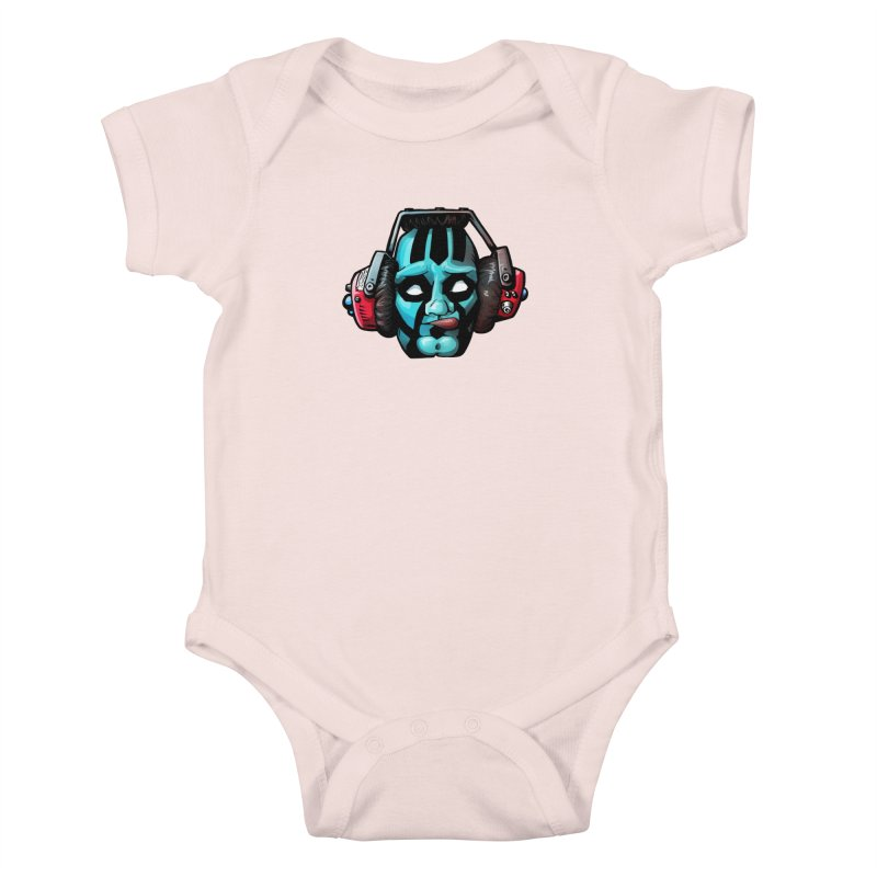 Zombie Metalhead  Kids Baby Bodysuit by Cory Kerr's Artist Shop (see more at corykerr.com)