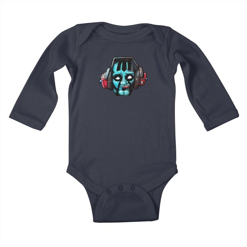 Zombie Metalhead  Kids Baby Longsleeve Bodysuit by Cory Kerr's Artist Shop (see more at corykerr.com)