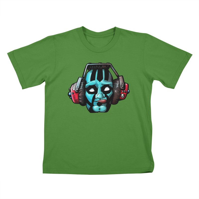 Zombie Metalhead  Kids T-shirt by Cory Kerr's Artist Shop (see more at corykerr.com)