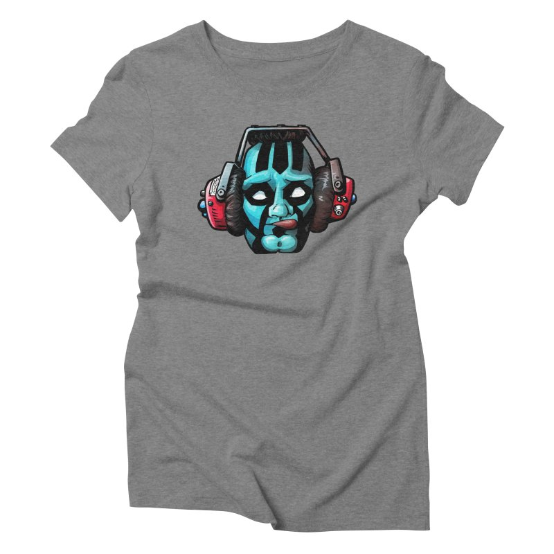 Zombie Metalhead  Women's Triblend T-shirt by Cory Kerr's Artist Shop (see more at corykerr.com)