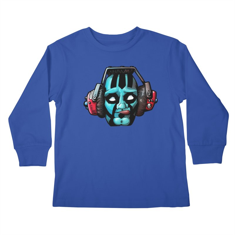 Zombie Metalhead  Kids Longsleeve T-Shirt by Cory Kerr's Artist Shop (see more at corykerr.com)