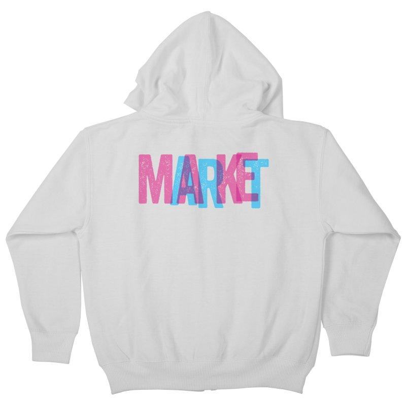 Make Art, Market Art Kids Zip-Up Hoody by Cory Kerr's Artist Shop (see more at corykerr.com)