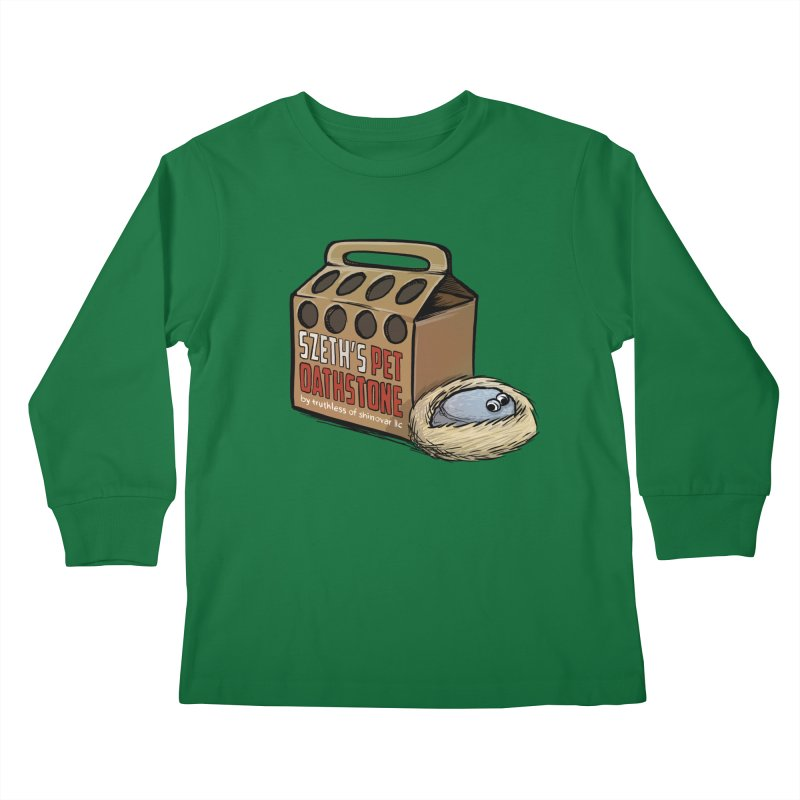 Zseth's Pet Oathstone Kids Longsleeve T-Shirt by Cory Kerr's Artist Shop (see more at corykerr.com)