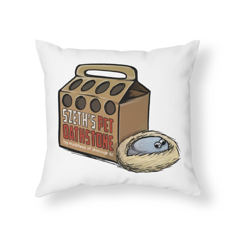Zseth's Pet Oathstone Home Throw Pillow by Cory Kerr's Artist Shop (see more at corykerr.com)