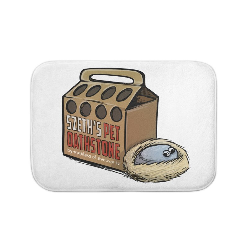 Zseth's Pet Oathstone Home Bath Mat by Cory Kerr's Artist Shop (see more at corykerr.com)