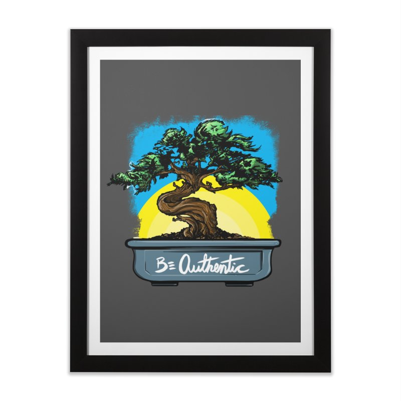 Bonsai: Be Authentic Home Framed Fine Art Print by Cory Kerr's Artist Shop (see more at corykerr.com)