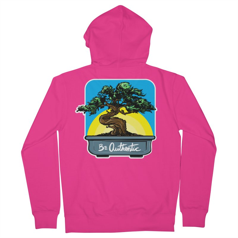 Bonsai: Be Authentic Men's Zip-Up Hoody by Cory Kerr's Artist Shop (see more at corykerr.com)