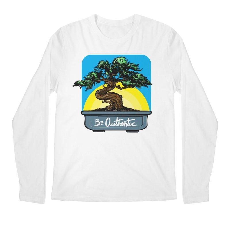 Bonsai: Be Authentic Men's Longsleeve T-Shirt by Cory Kerr's Artist Shop (see more at corykerr.com)