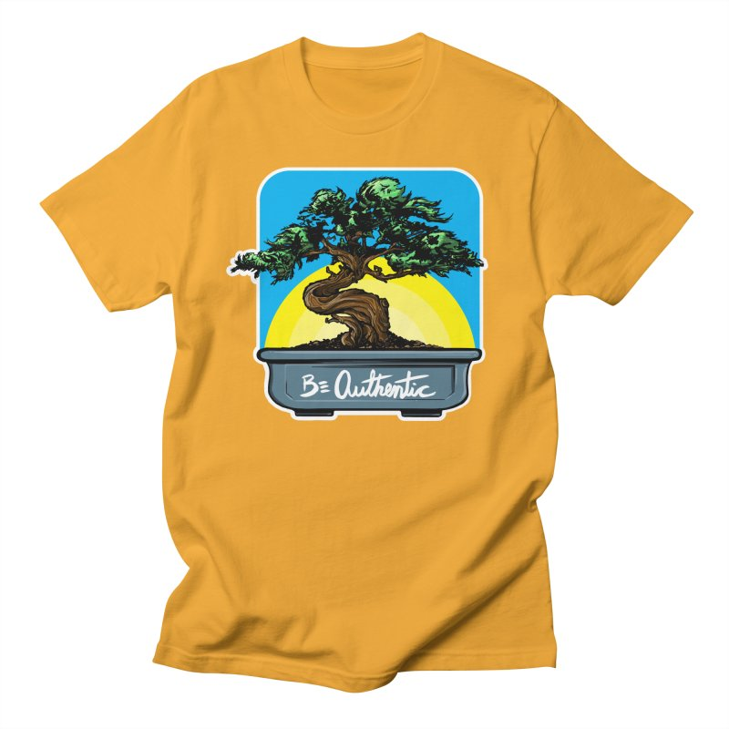 Bonsai: Be Authentic Men's T-shirt by Cory Kerr's Artist Shop (see more at corykerr.com)