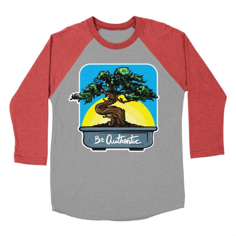 Bonsai: Be Authentic Men's Baseball Triblend T-Shirt by Cory Kerr's Artist Shop (see more at corykerr.com)