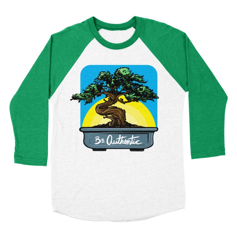 Bonsai: Be Authentic Men's Baseball Triblend T-Shirt by Cory Kerr's Artist Shop (see more at corykerr.com)