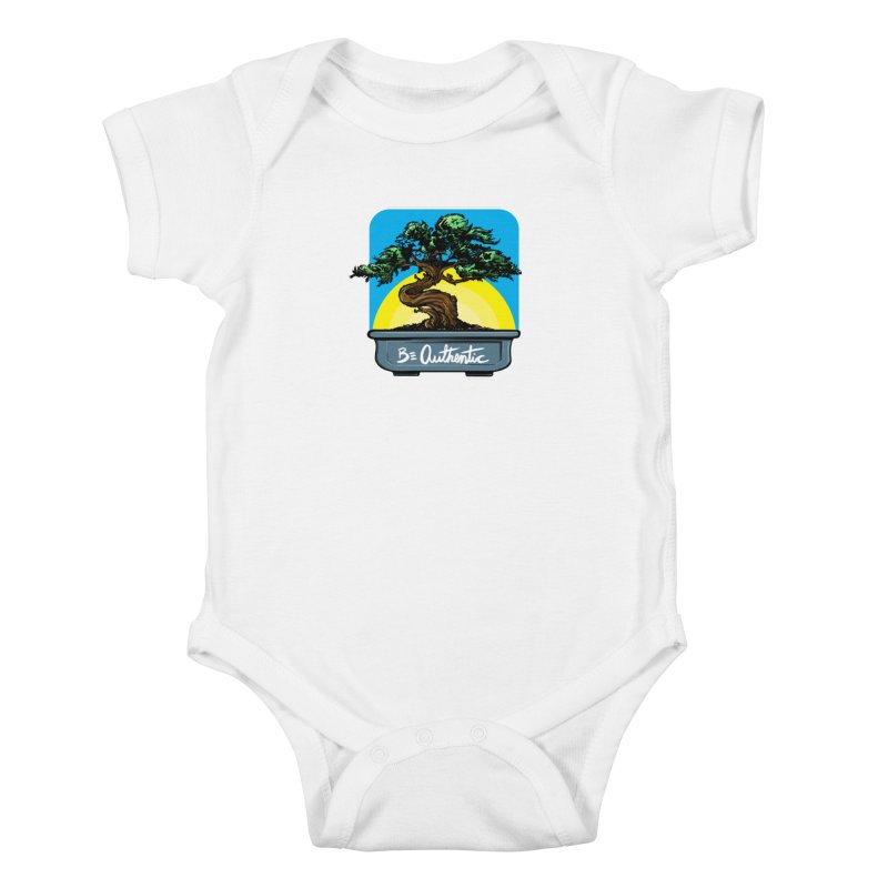 Bonsai: Be Authentic Kids Baby Bodysuit by Cory Kerr's Artist Shop (see more at corykerr.com)