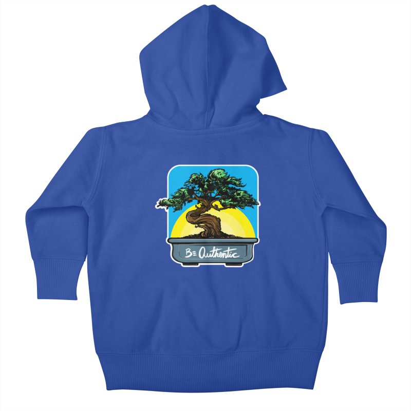 Bonsai: Be Authentic Kids Baby Zip-Up Hoody by Cory Kerr's Artist Shop (see more at corykerr.com)