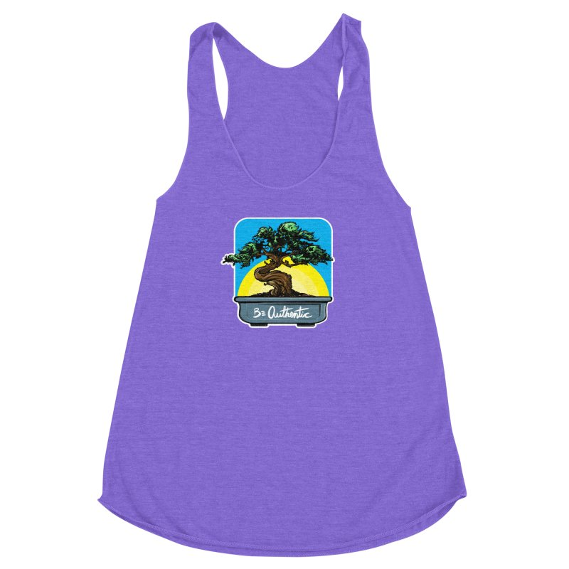 Bonsai: Be Authentic Women's Racerback Triblend Tank by Cory Kerr's Artist Shop (see more at corykerr.com)