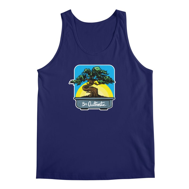 Bonsai: Be Authentic Men's Tank by Cory Kerr's Artist Shop (see more at corykerr.com)