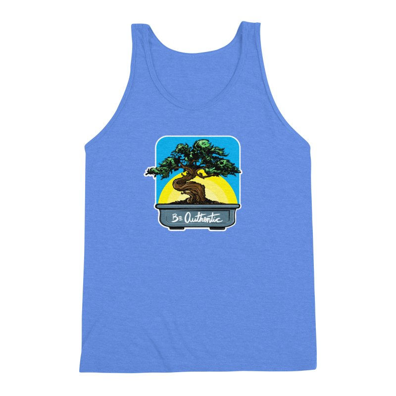 Bonsai: Be Authentic Men's Triblend Tank by Cory Kerr's Artist Shop (see more at corykerr.com)