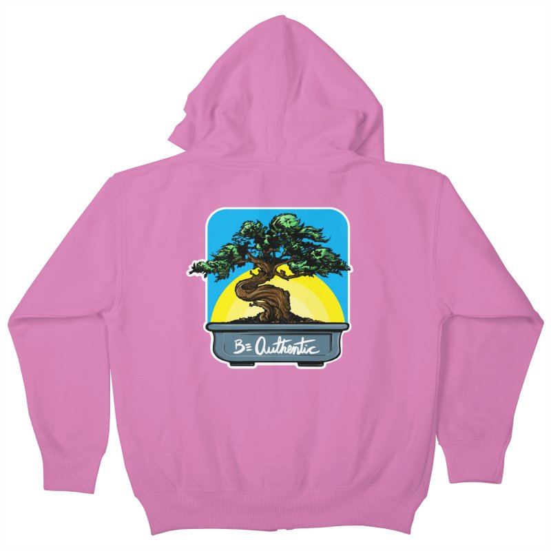 Bonsai: Be Authentic Kids Zip-Up Hoody by Cory Kerr's Artist Shop (see more at corykerr.com)