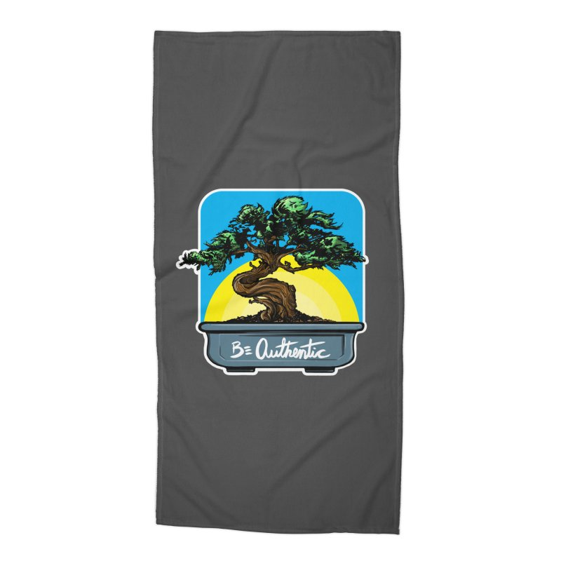 Bonsai: Be Authentic Accessories Beach Towel by Cory Kerr's Artist Shop (see more at corykerr.com)