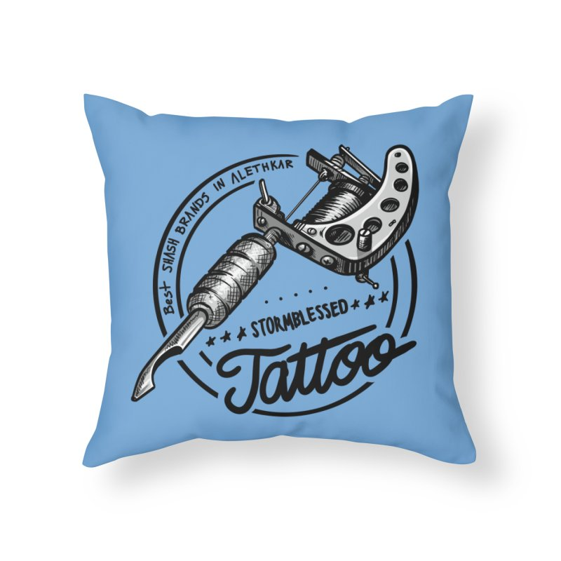 Stormblessed Tattoo Shop: best shash brand in alethkar Home Throw Pillow by Cory Kerr's Artist Shop (see more at corykerr.com)