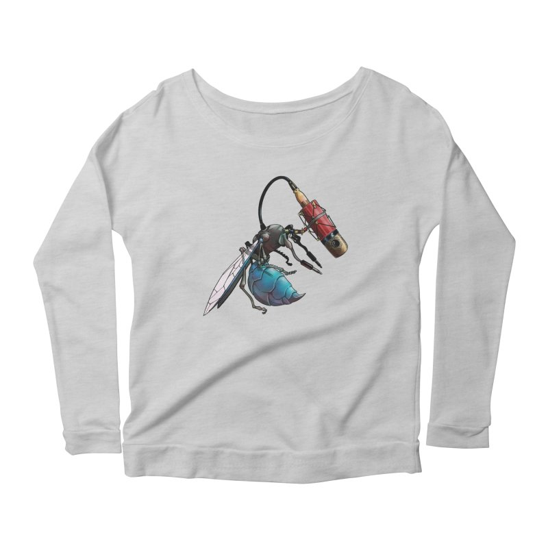 Sweep for Bugs Women's Longsleeve Scoopneck  by Cory Kerr's Artist Shop (see more at corykerr.com)