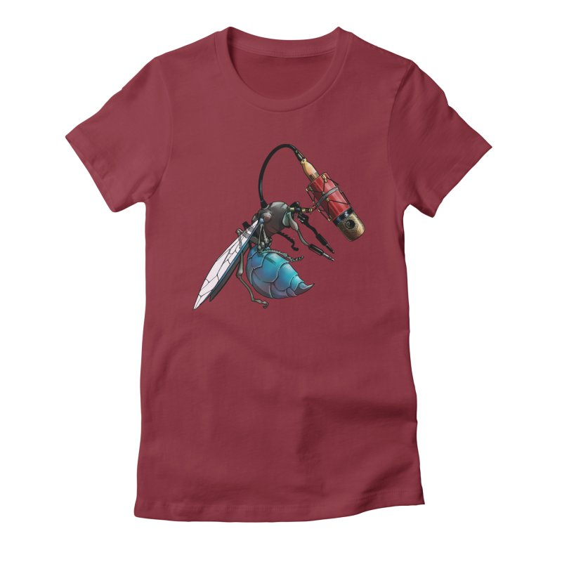 Sweep for Bugs Women's Fitted T-Shirt by Cory Kerr's Artist Shop (see more at corykerr.com)