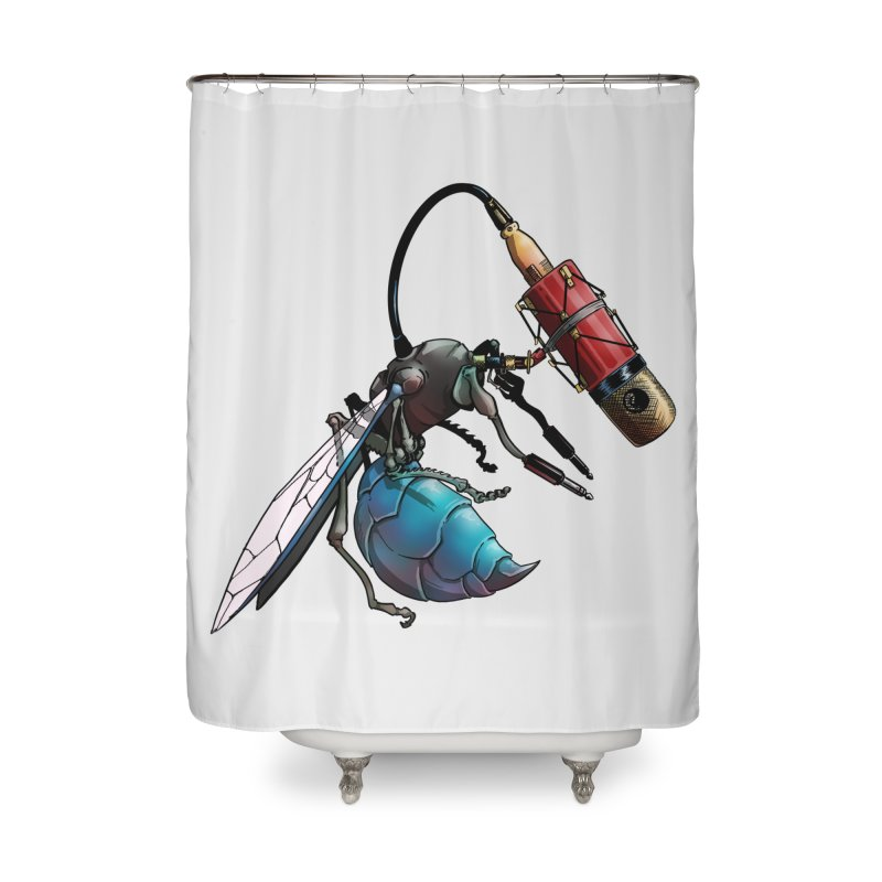 Sweep for Bugs Home Shower Curtain by Cory Kerr's Artist Shop (see more at corykerr.com)
