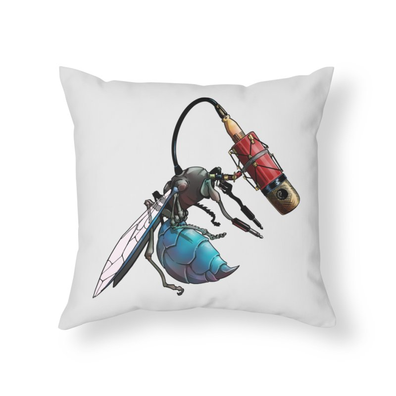 Sweep for Bugs Home Throw Pillow by Cory Kerr's Artist Shop (see more at corykerr.com)
