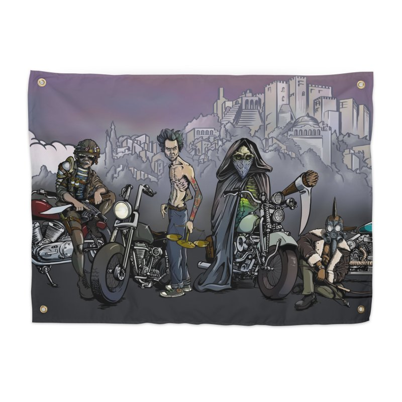 Four Riders of the Apocalypse Home Tapestry by Cory Kerr's Artist Shop (see more at corykerr.com)