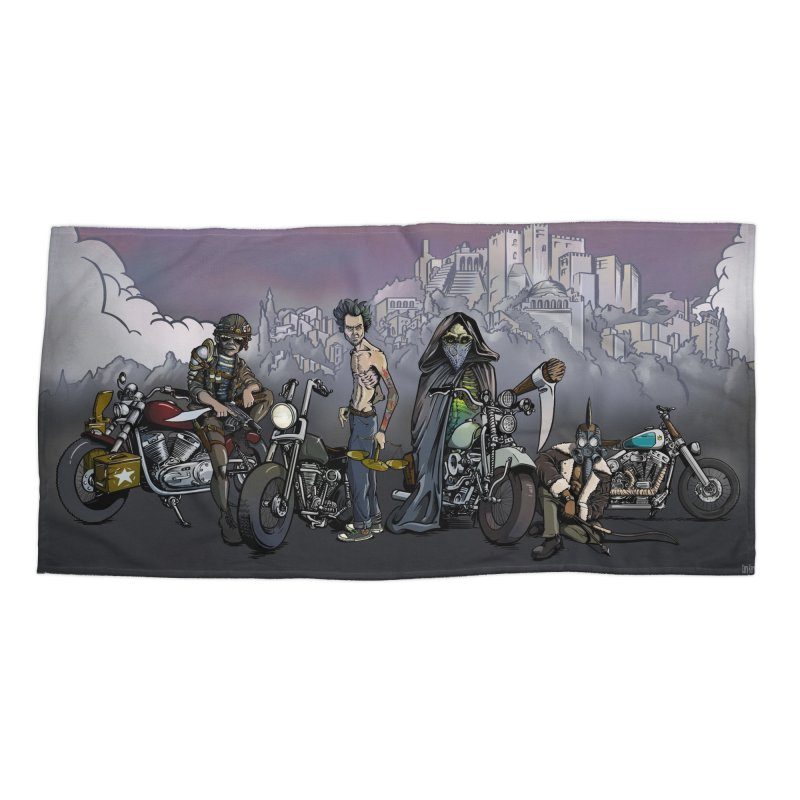 Four Riders of the Apocalypse Accessories Beach Towel by Cory Kerr's Artist Shop (see more at corykerr.com)