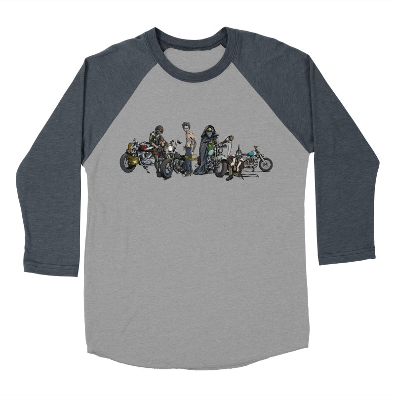 On Steel Horses... Men's Baseball Triblend T-Shirt by Cory Kerr's Artist Shop (see more at corykerr.com)