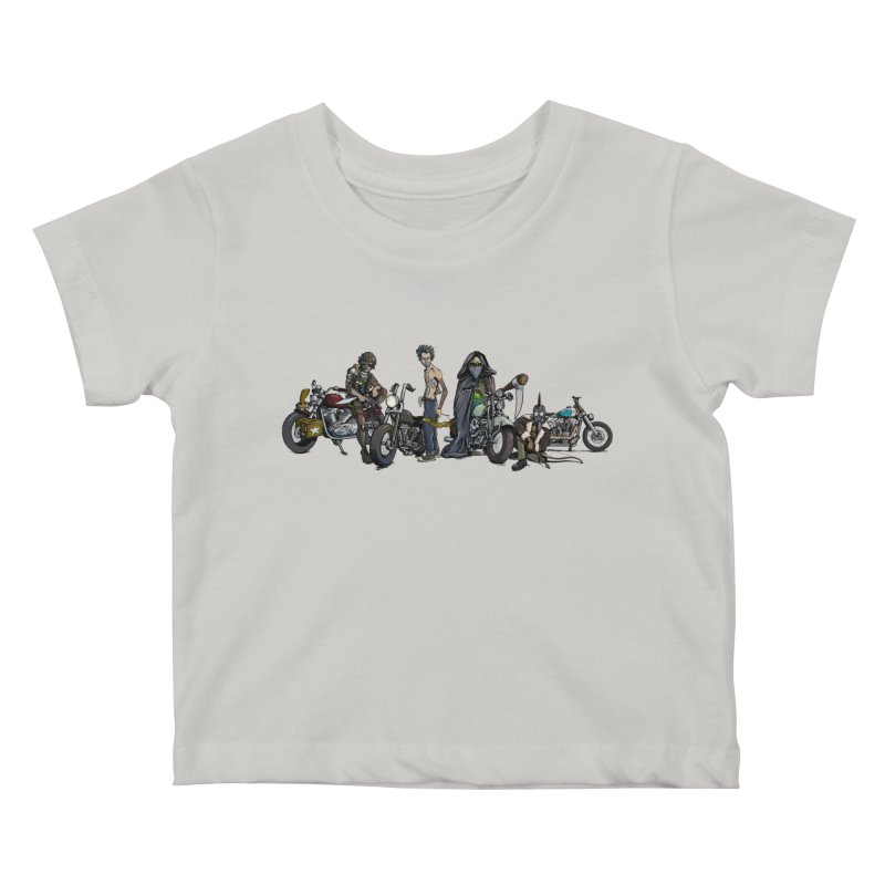 On Steel Horses... Kids Baby T-Shirt by Cory Kerr's Artist Shop (see more at corykerr.com)