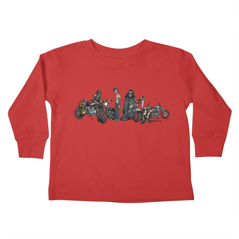 On Steel Horses... Kids Toddler Longsleeve T-Shirt by Cory Kerr's Artist Shop (see more at corykerr.com)