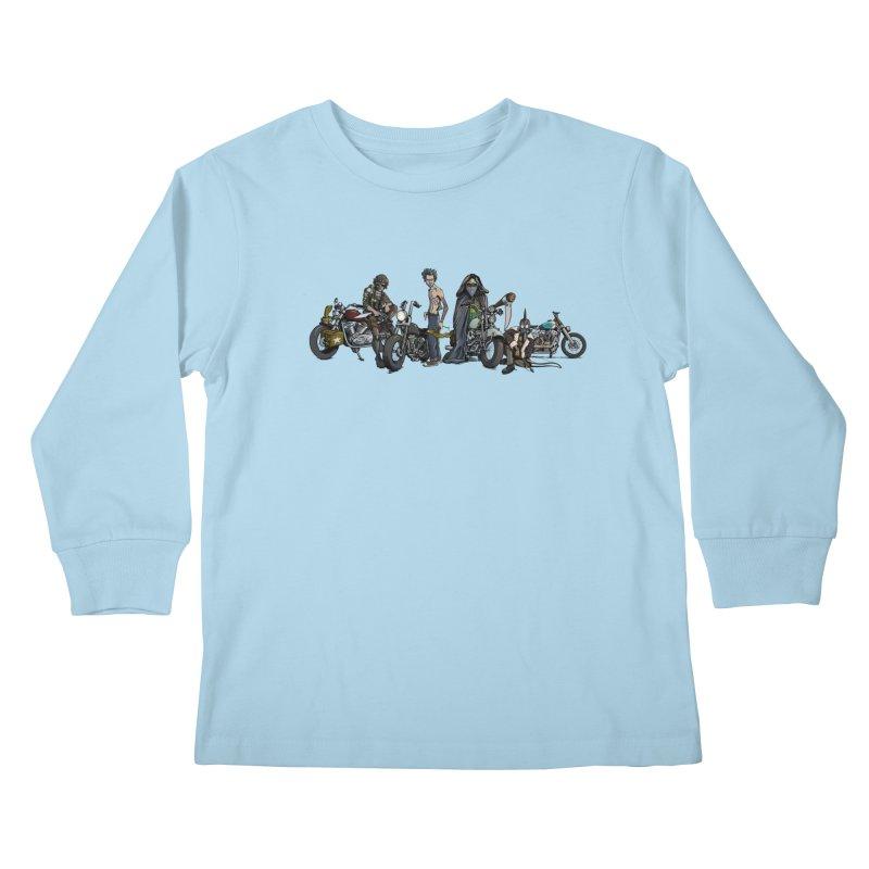 On Steel Horses... Kids Longsleeve T-Shirt by Cory Kerr's Artist Shop (see more at corykerr.com)