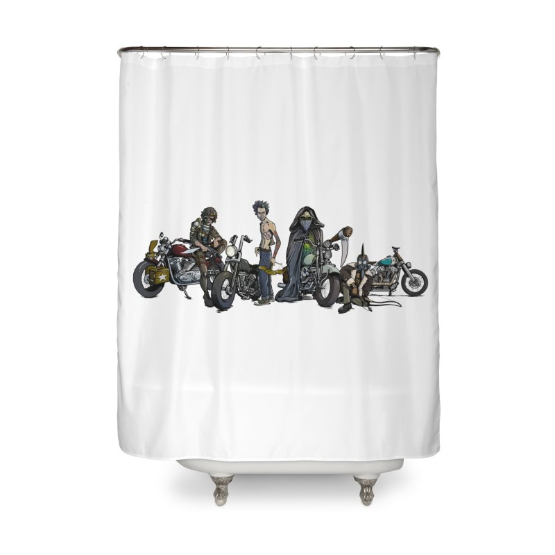 On Steel Horses... Home Shower Curtain by Cory Kerr's Artist Shop (see more at corykerr.com)