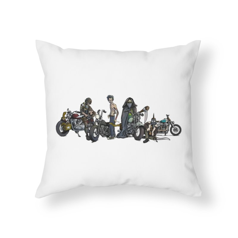 On Steel Horses... Home Throw Pillow by Cory Kerr's Artist Shop (see more at corykerr.com)