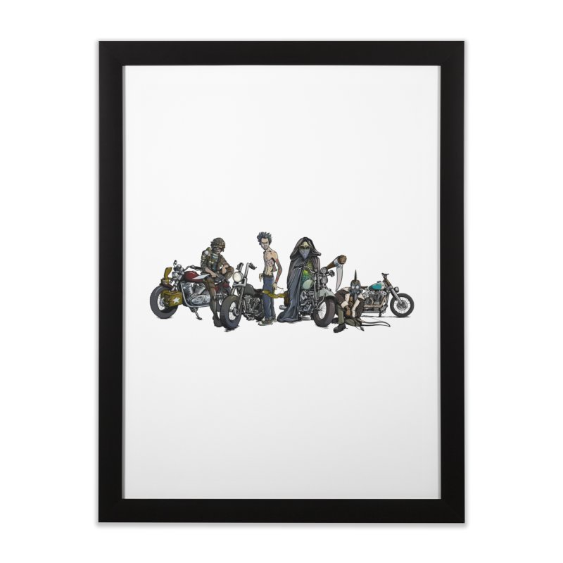 On Steel Horses... Home Framed Fine Art Print by Cory Kerr's Artist Shop (see more at corykerr.com)
