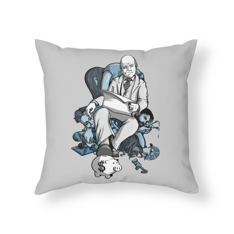 muted: Benefits of Exposure Home Throw Pillow by Cory Kerr's Artist Shop (see more at corykerr.com)