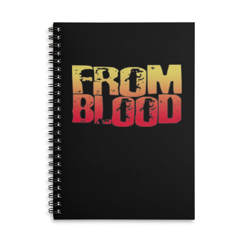 From Blood Logo Accessories Notebook by Cosmic Times's Artist Shop