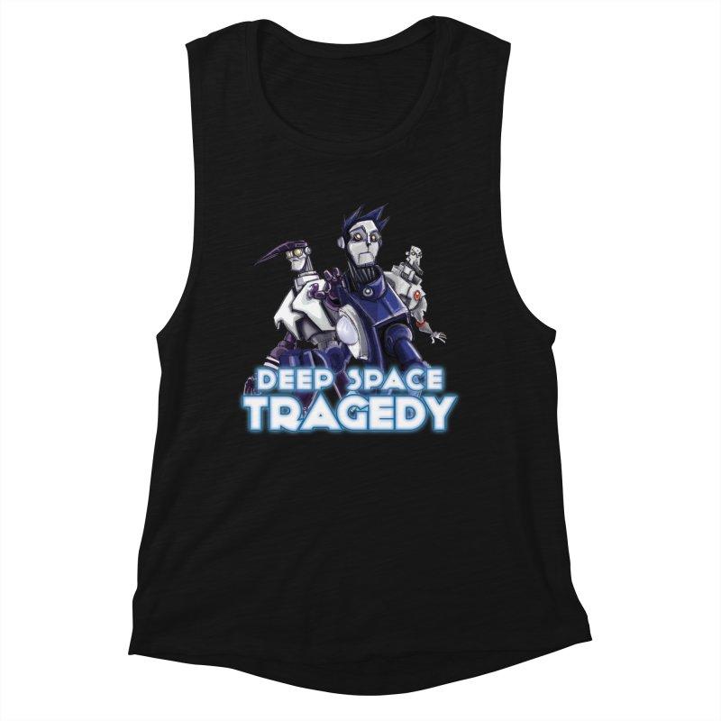 Deep Space Tragedy Logo Women's Muscle Tank by Cosmic Times's Artist Shop