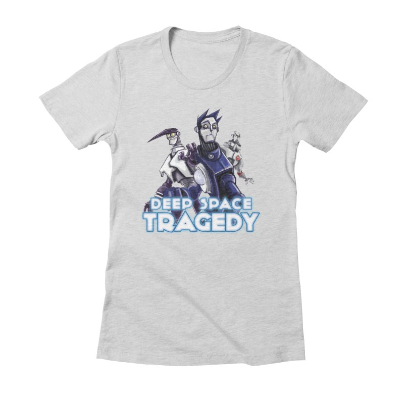 Deep Space Tragedy Logo Women's Fitted T-Shirt by Cosmic Times's Artist Shop