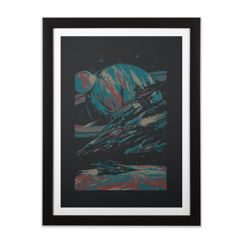 Space Patrol Home Framed Fine Art Print by Robson Borges