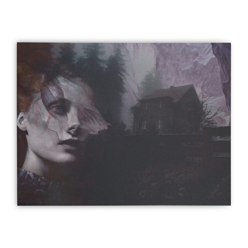 Ghost of Saturday Home Stretched Canvas by George Ravenkult Cotronis